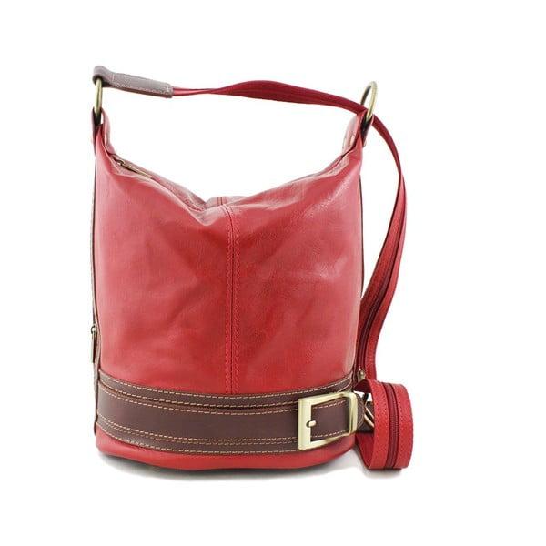 Skórzana torebka Crisana Rosso