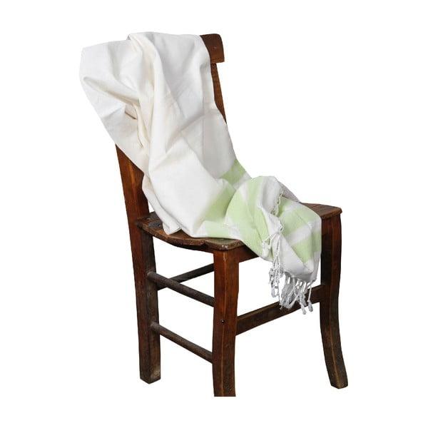 Ręcznik hammam Mimoza Green, 90x190 cm
