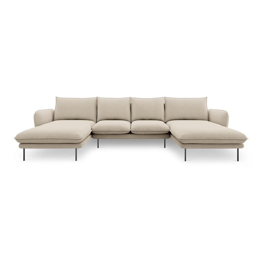 Beżowa sofa w kształcie litery U Cosmopolitan Design Vienna