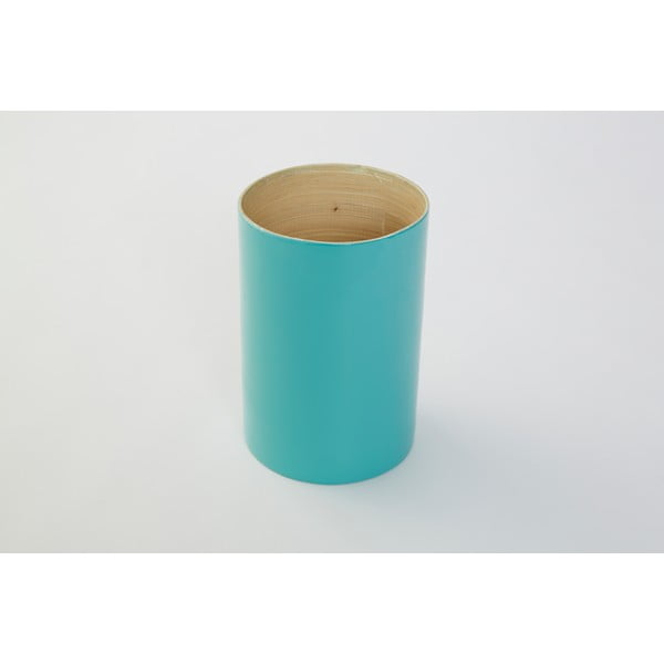 Bambusowy pojemnik na przybry Bamboo Tyrkys, 18 cm