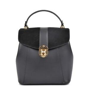 Czarny plecak skórzany Isabella Rhea Carmit