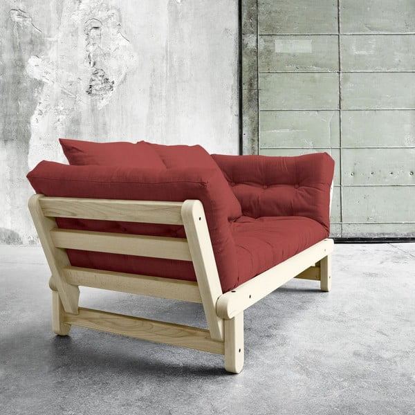 Sofa rozkładana Beat Natural/Passion Red
