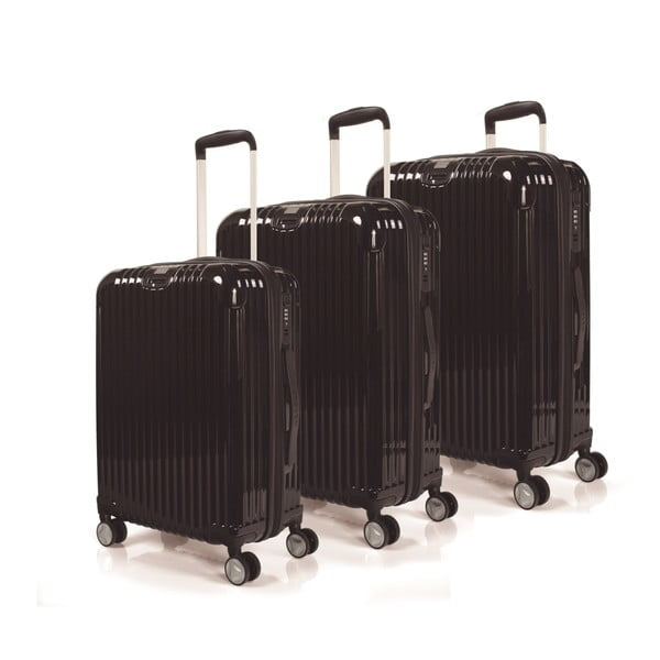 Zestaw 3 walizek Jaslen, czarny