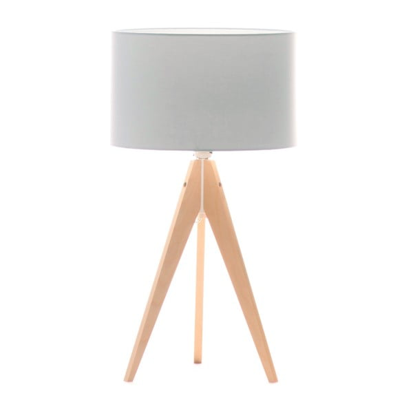 Lampa stołowa Artist Baby Blue/Birch, 65x33 cm