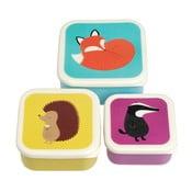 Zestaw 3 pudełek śniadaniowych Rex London Rusty And Friends