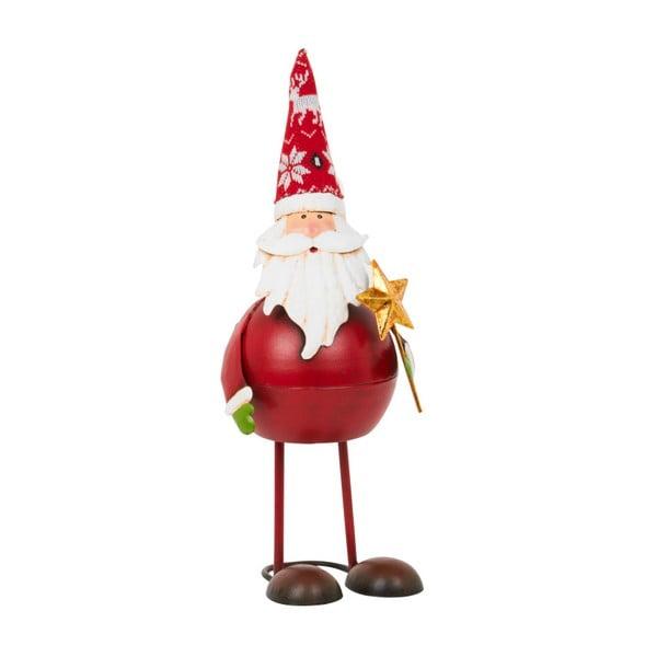 Dekoracja Archipelago Round Red Bouncing Santa With Star, 44 cm