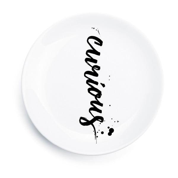 Porcelanowy talerz Curious, 25 cm