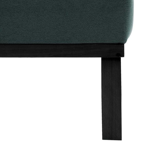 Sofa dwuosobowa VIVONITA Jonan Light Blue, czarne nogi