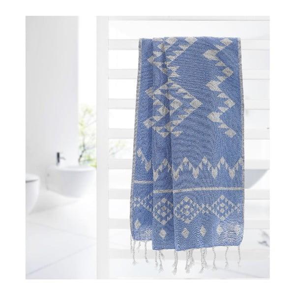 Ręcznik hammam Carpet Blue, 100x180 cm