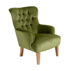 Zielony fotel Max Winzer Brandon Suede