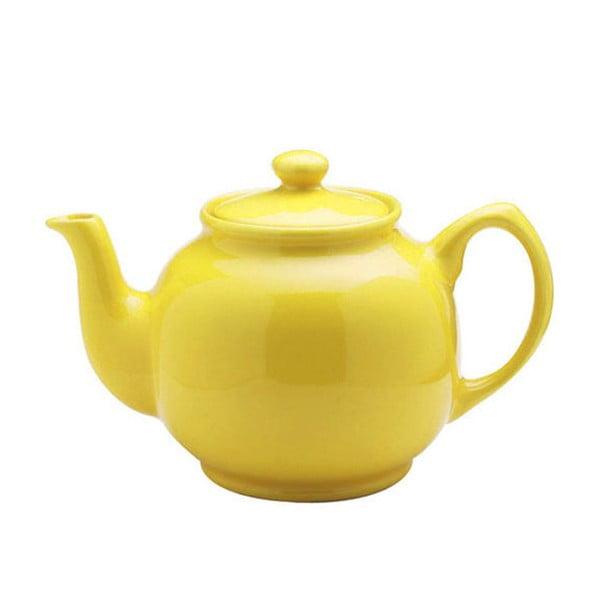 Żółty dzbanek do herbaty z kamionki Price&Kensington Brights, 1,1 l