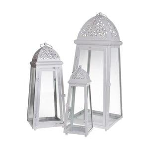 Zestaw 3 lampionów Romantic White