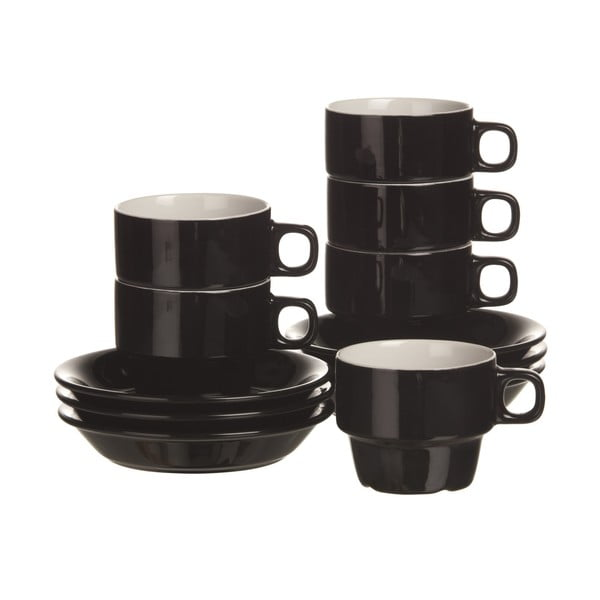 Zestaw 6 filiżanek na cappucino Black