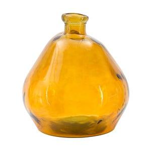 Pomarańczowy wazon ze szkła z recyklingu Mauro Ferretti Bot, wys.50cm