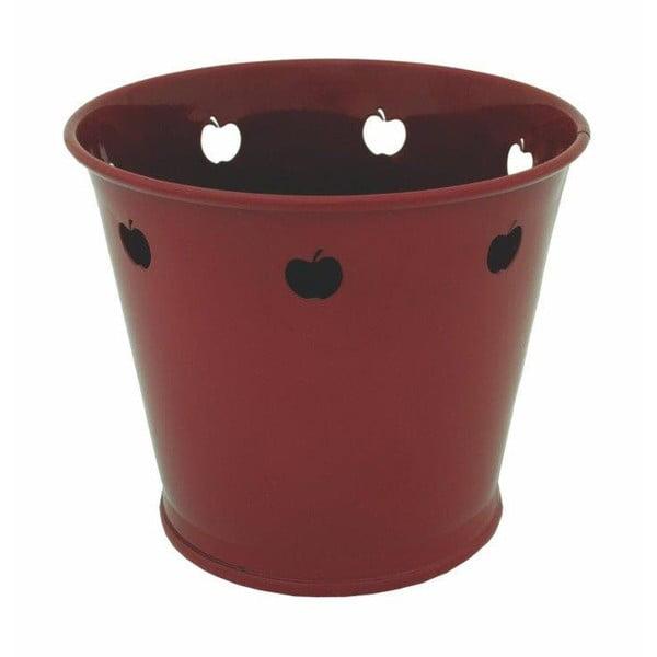 Doniczka metalowa Kovotvar z motywem jabłka, 1.5 l