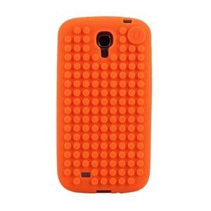 Pikselowe etui na Samsung S4, pomarańczowe
