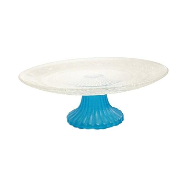 Patera na tort Fluo Alzata Blue, 25 cm