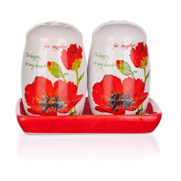 Solniczka i pieprzniczka Banquet Red Poppy