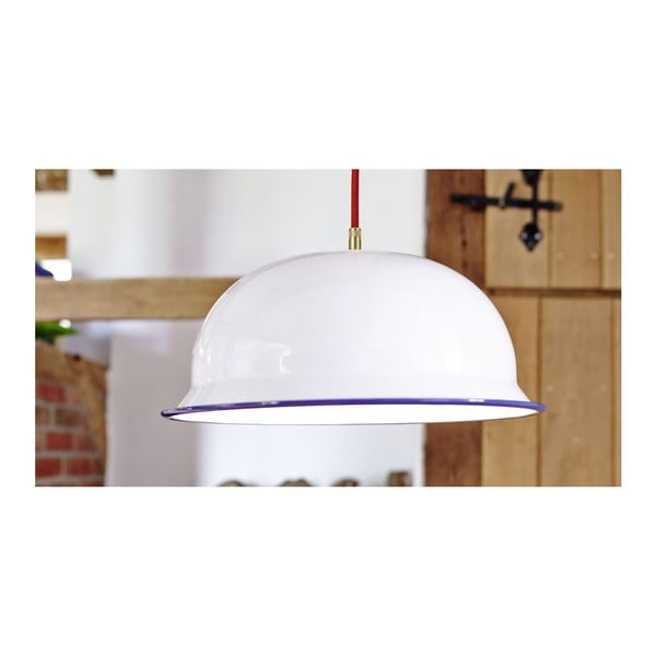 Lampa sufitowa Emailleleuchte 01 White/Red