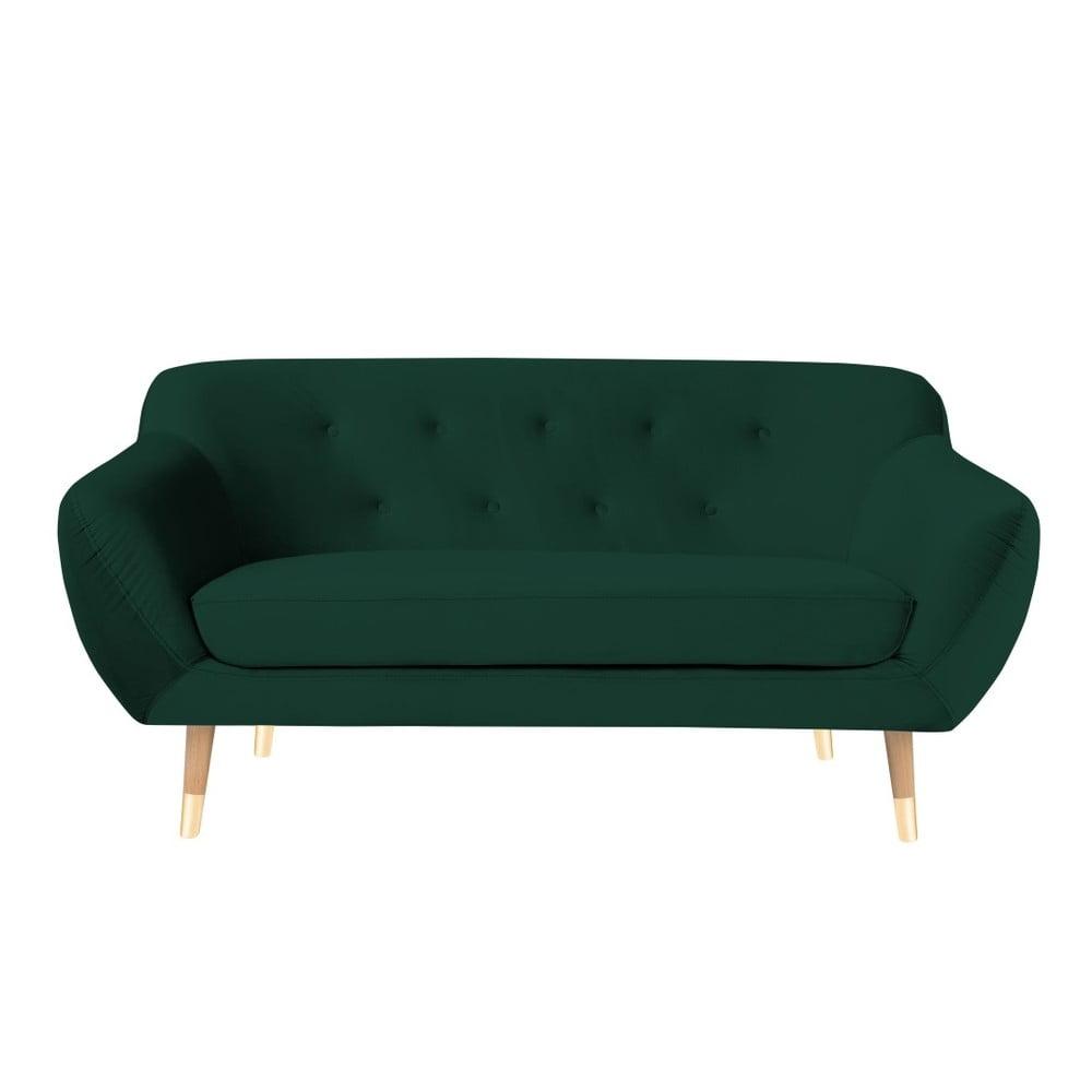 Ciemnozielona sofa 2-osobowa Mazzini Sofas Amelie