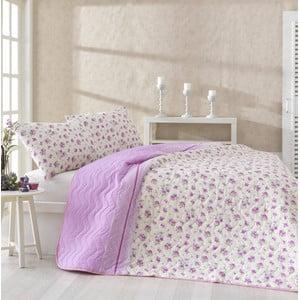 Komplet narzuty i 2 poszewek na poduszki Fresh Pink, 200x220 cm