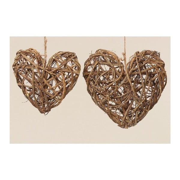 Dekoracja wisząca Heart, 2 sztuki