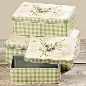 Zestaw 3 pudełek Boltze Olive