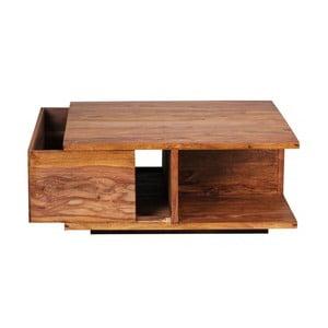 Stolik z litego drewna palisandru Skyport Carlota
