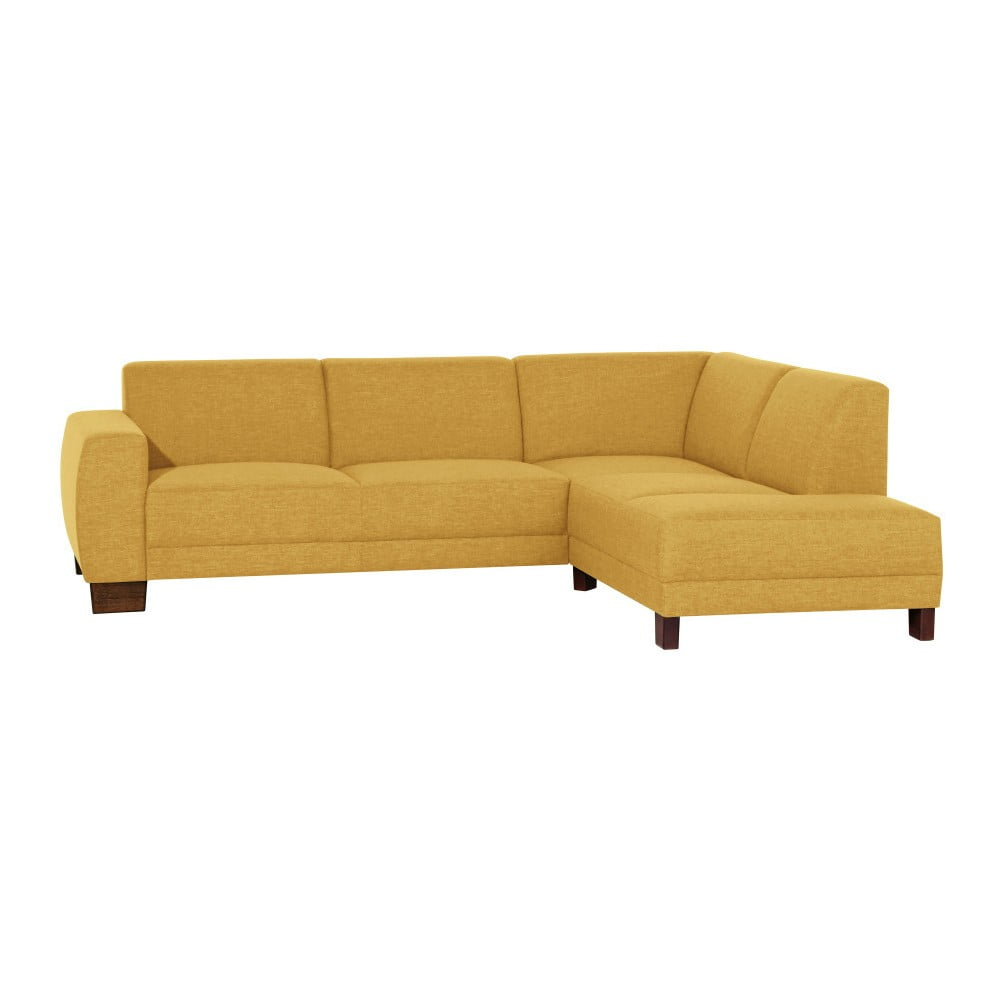 Żółta sofa narożna prawostronna Max Winzer Blackpool
