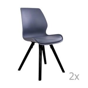 Zestaw 2 szarych krzeseł do jadalni House Nordic Rana