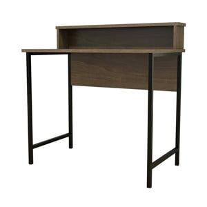 Ciemnobrązowe biurko Esta