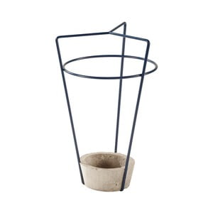 Granatowy parasolnik z betonową podstawą MEME Design Ambrogio