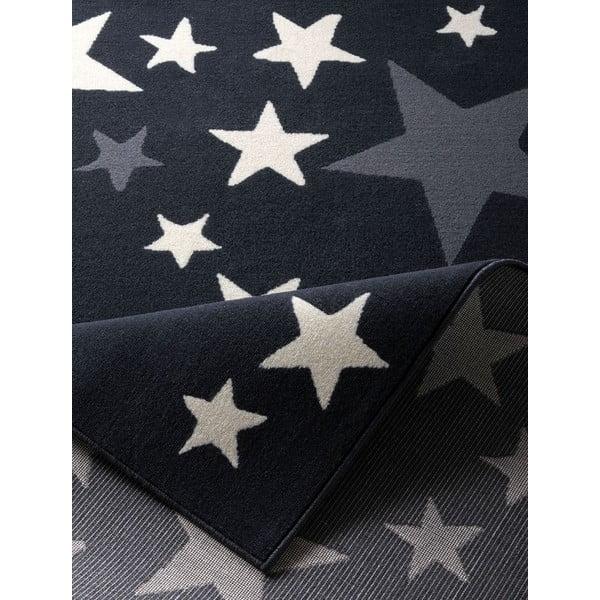 Czarny dywan Hanse Home Gwiazdy, 140x200 cm