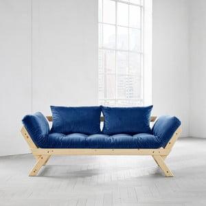 Wielofunkcyjna sofa Karup Bebop Natural/Velvet Navy