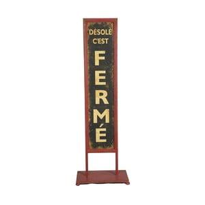 Tabliczka stojąca Antic Line Fermé