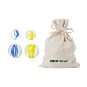 Zestaw 24 kulek szklanych do gry Kikkerland Huckleberry