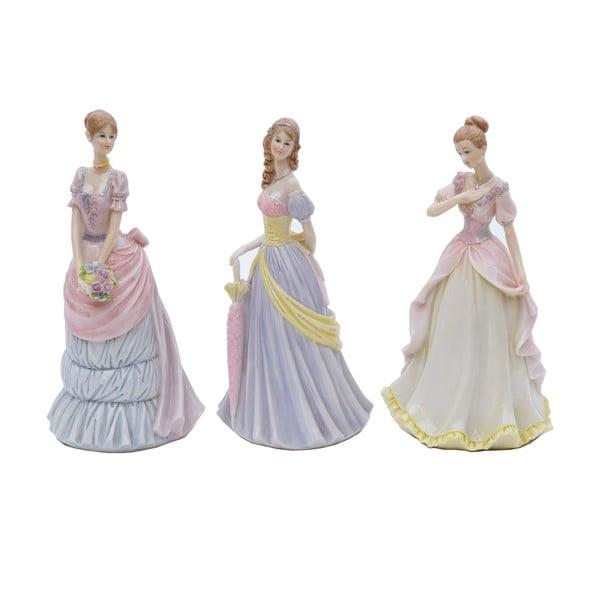 Zestaw 3 figurek dekoracyjnych Bolzonella Victorian Ladies