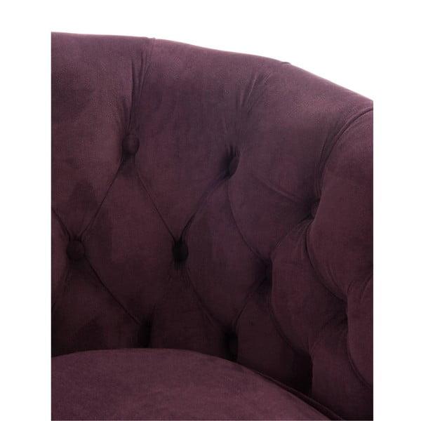 Bordowy fotel Aubergine