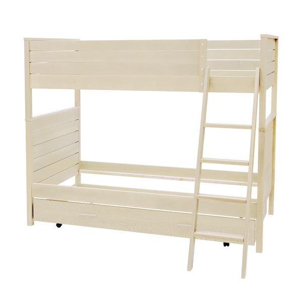 Jasne łóżko piętrowe Woodman Woody, 90x200 cm