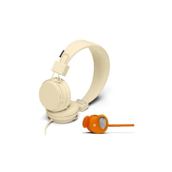 Słuchawki Plattan Cream + słuchawki Medis Orange GRATIS