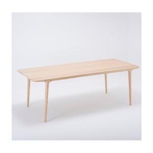 Stół z litego drewna dębowego Gazzda Fawn, 220x90cm