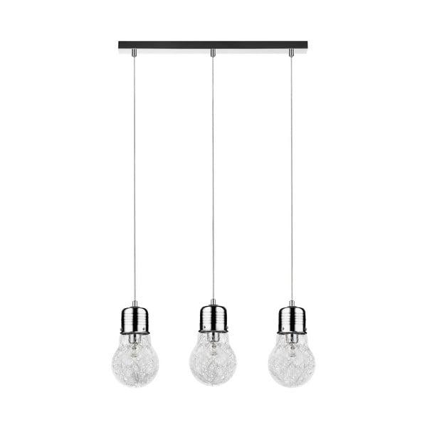 Lampa wisząca Bulb, srebrna