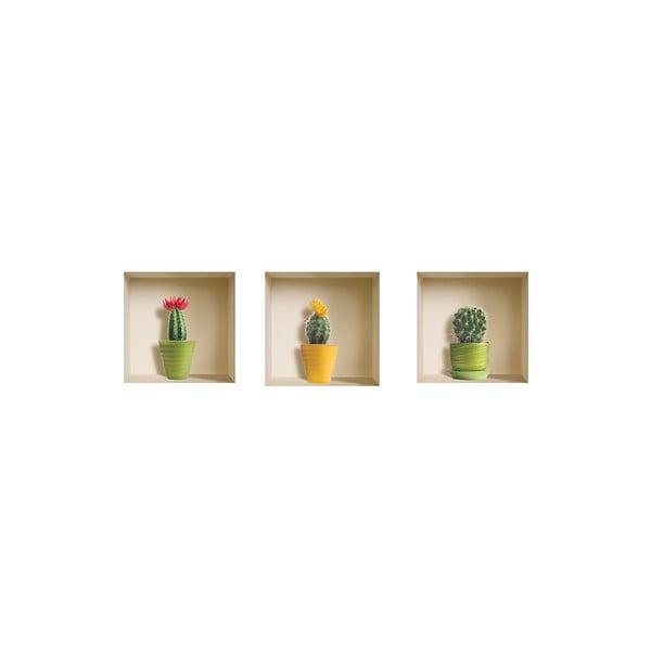 Naklejki na ścianę 3D Cactus