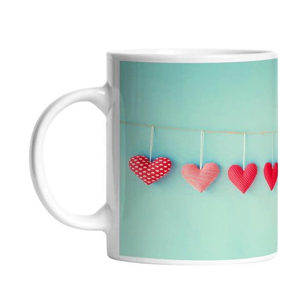 Ceramiczny kubek From My Heart, 330 ml
