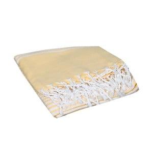 Żółty ręcznik hammam Hermes Yellow, 90x190cm