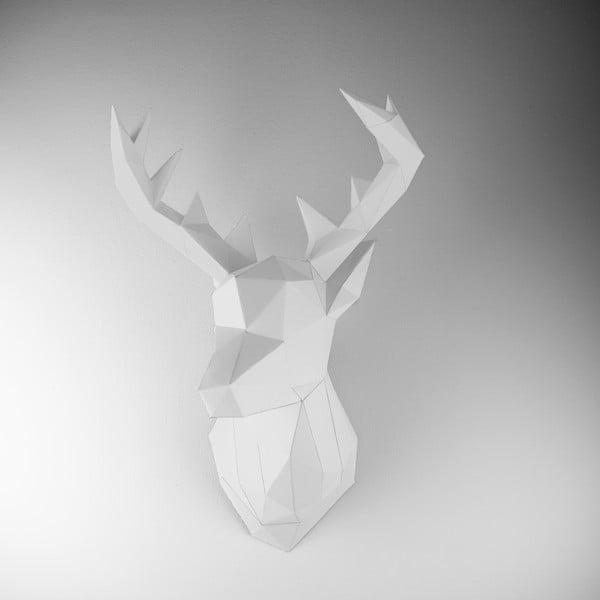 Papierowe poroże Jeleń, białe