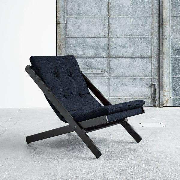 Fotel składany Karup Boogie Black/Deep Blue