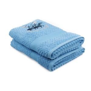 Zestaw 2 niebieskich ręczników Beverly Hills Polo Club Palmer, 70x140cm