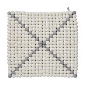 Dywan modułowy Wool Mat White/Grey, 40x40 cm