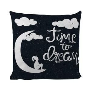 Poduszka Black Shake Time to Dream, 50x50 cm